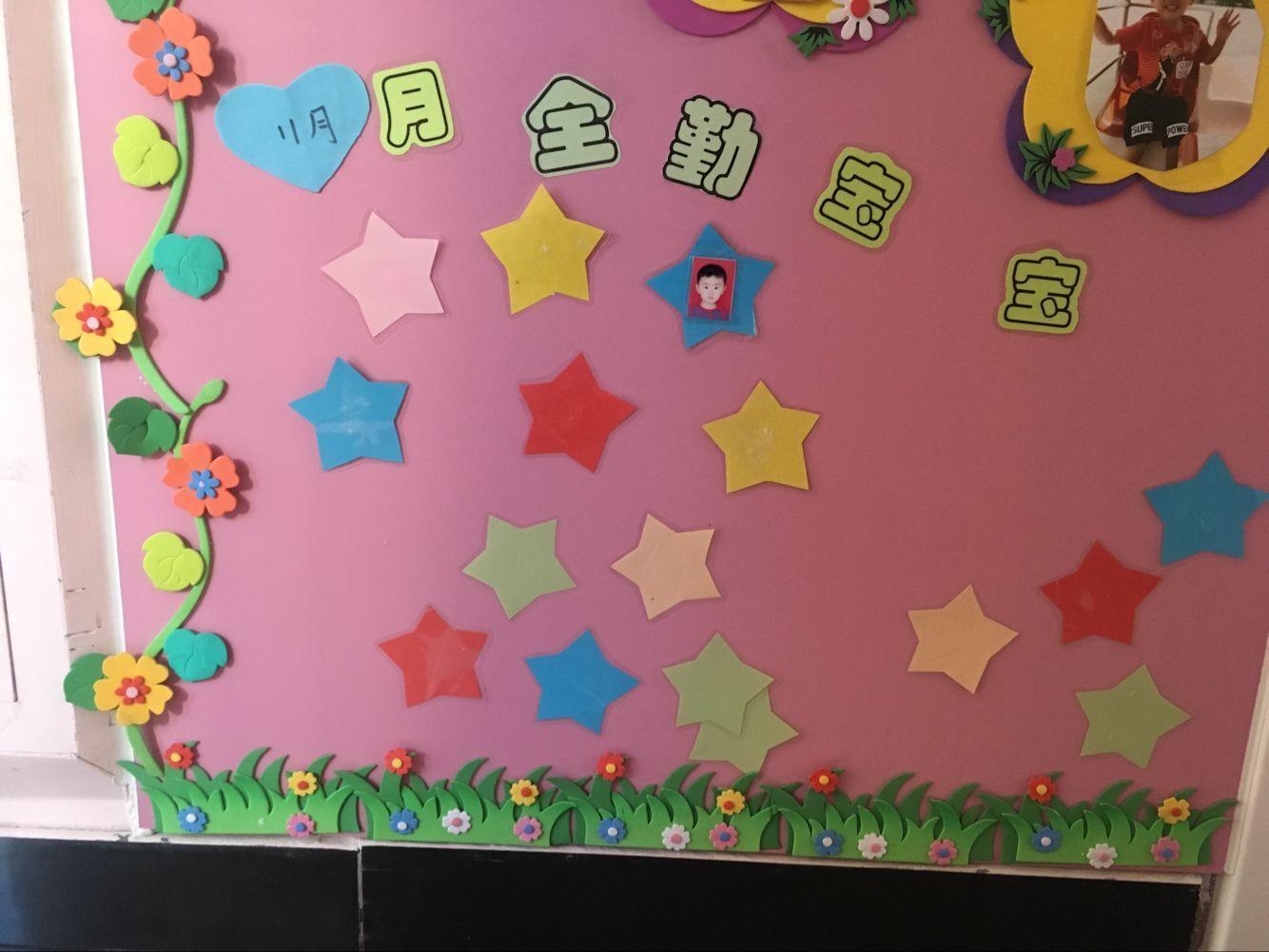 11月份全勤宝宝是刘昊佑小朋友,刘昊佑小朋友喜欢幼儿园,每天坚持来园