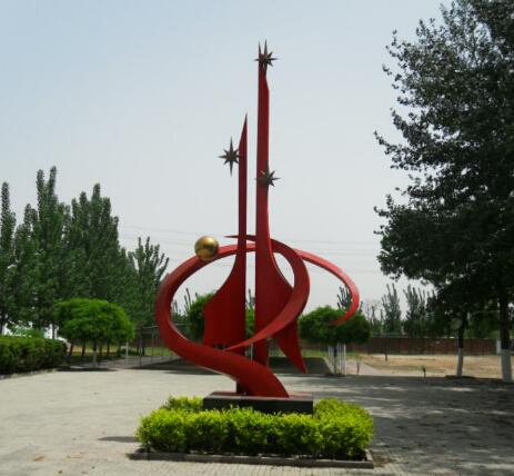学校标志雕塑