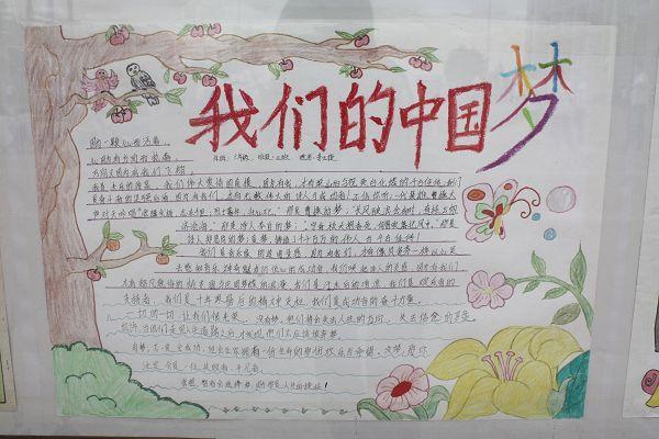 中国梦手抄报