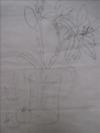 学生美术作品展 铅笔画